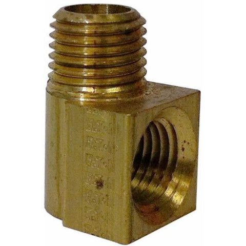 "Brass Street Elbow, 90°, 1/4"" Pipe Size - Pipe Fitting"