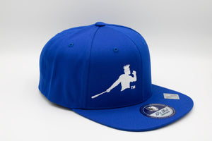 White and Blue Piña Power snapback cap