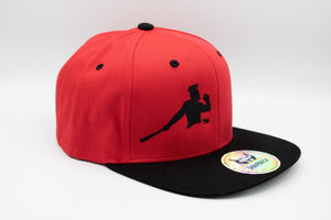 Black and red Piña Power Snapback cap