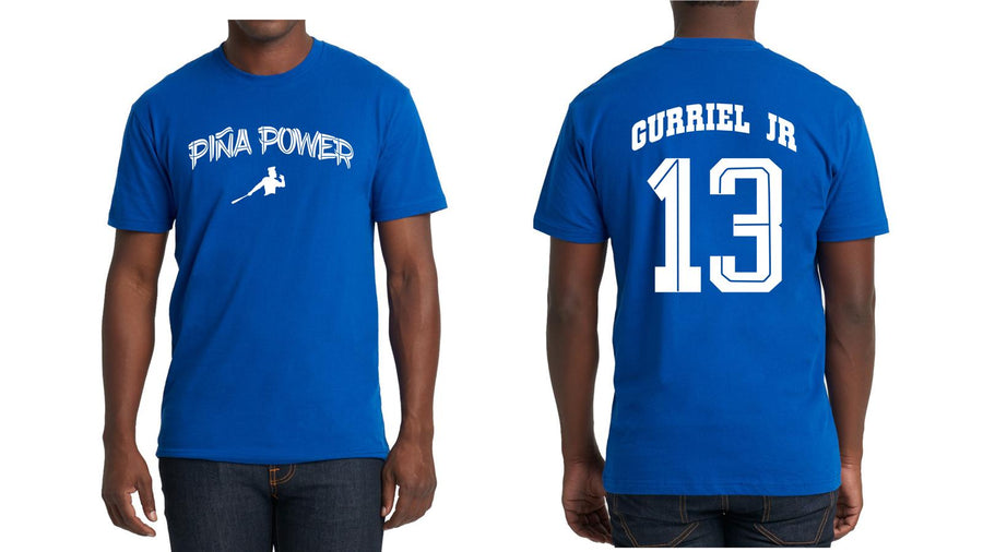 Blue Piña Power T-shirt with Gurriel Jr on the back