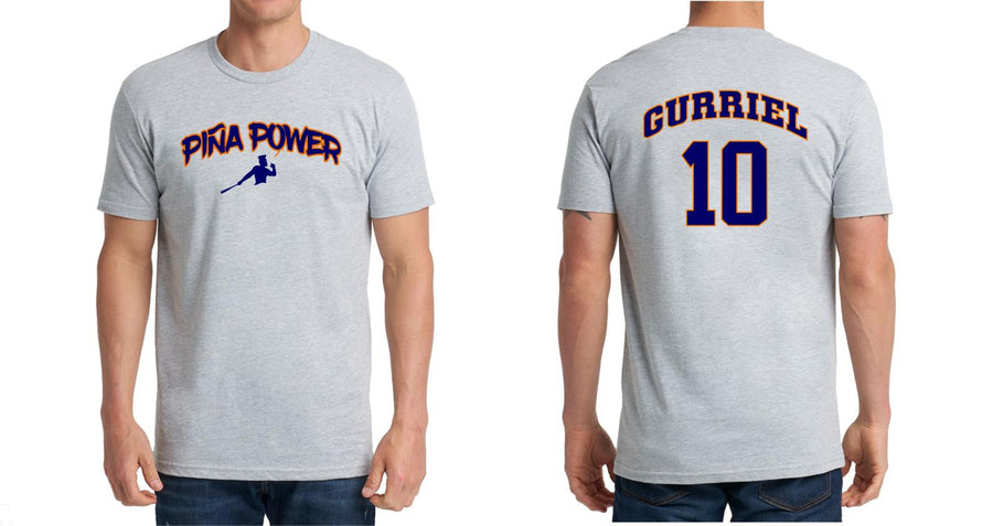 Gray Piña Power t-shirt with Gurriel 10 on the back