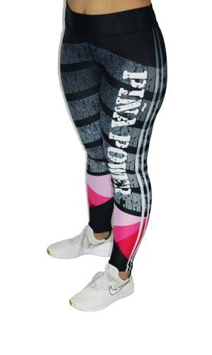 Black and Pink Piña Power Leggings