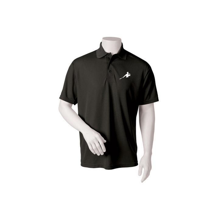 "Black Adult Polo ""Piña Swing"""