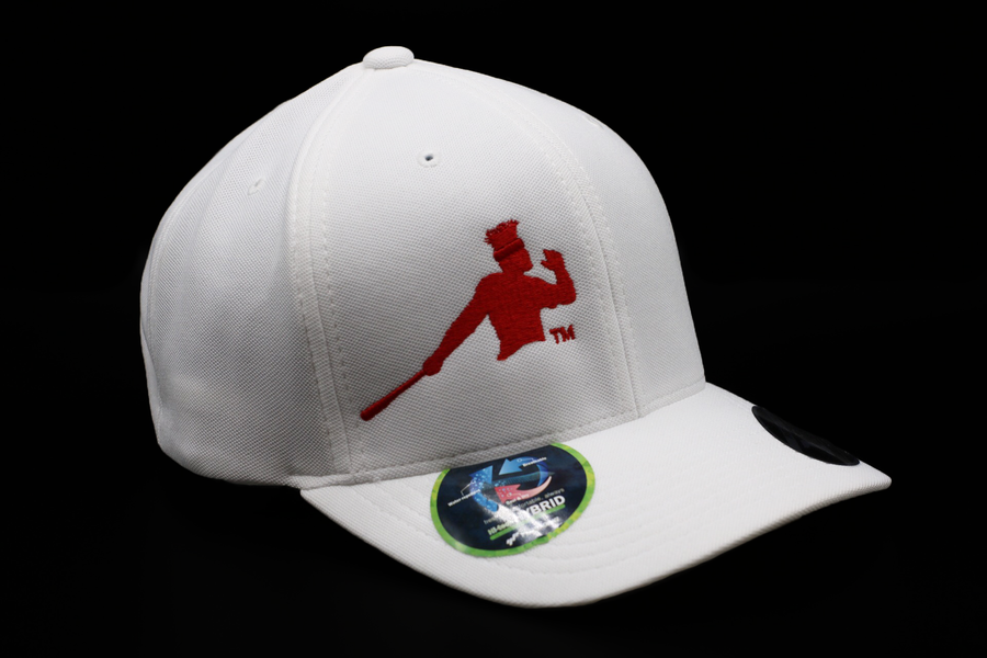 Photo of a white Piña Power Yupoong Flexfit Baseball Cap