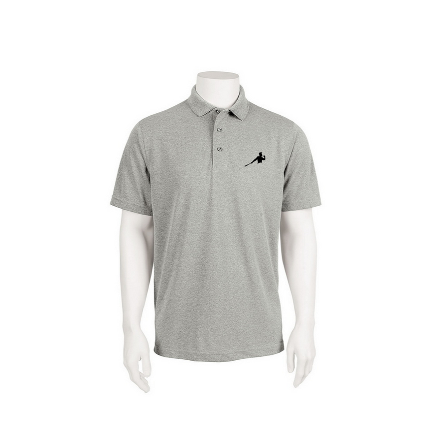 "Gray Adult Polo ""Piña Swing"""