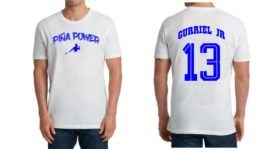 White Piña Power T-shirt with Gurriel Jr on the Back