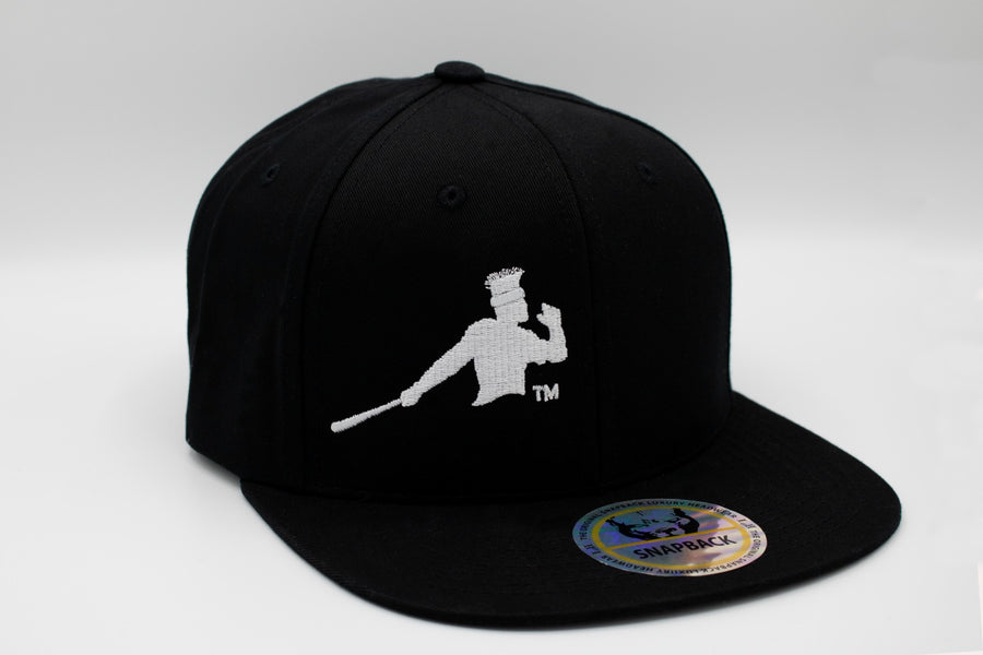 Black and white Piña Power snapback cap