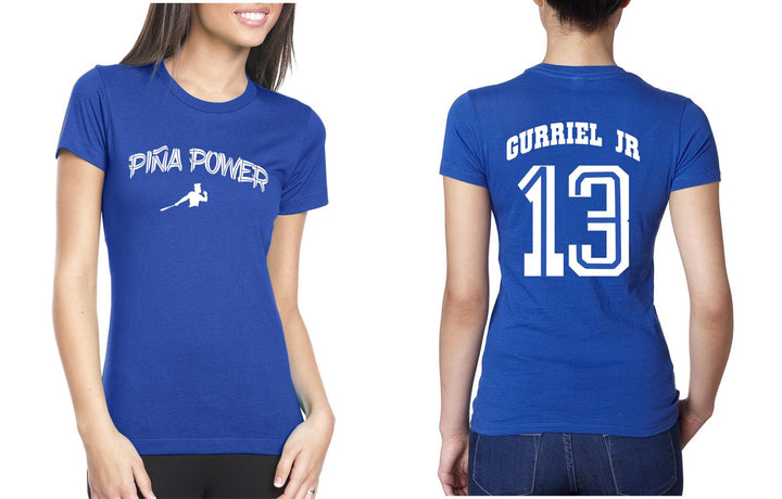 Blue Woman Piña Power T-shirt with Gurriel Jr on the back