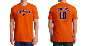 Orange Piña Power T-shirt with Gurriel 10 on the back