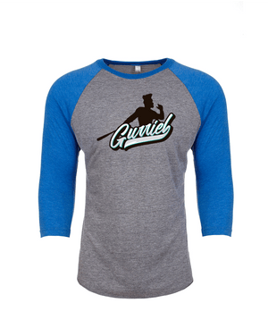 Gurriel's Swing white- Tri-Blend 3/4 Raglan Tee