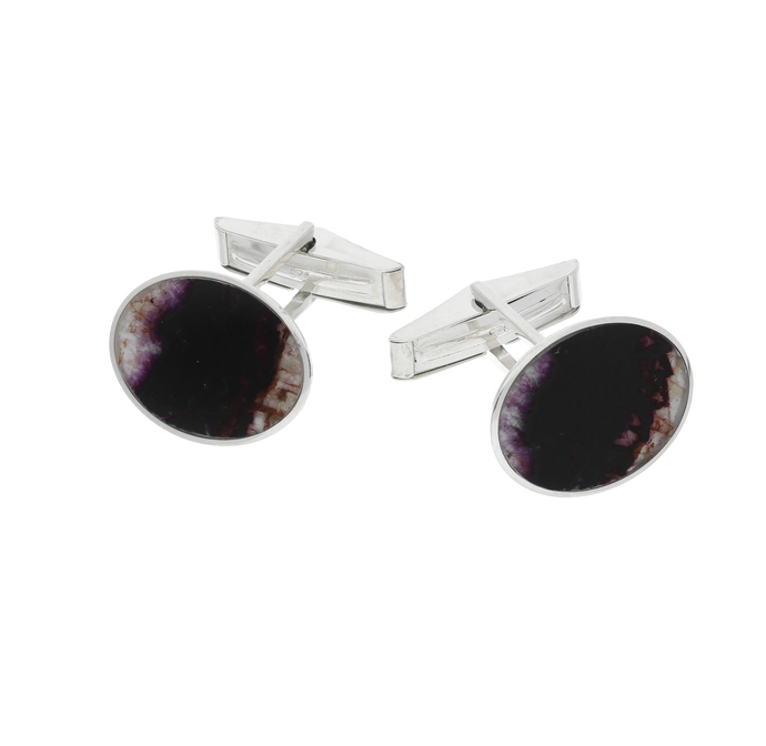 Blue John Large Oval Gents Cufflinks