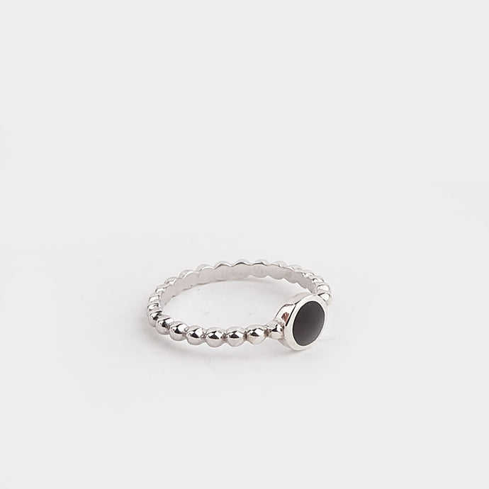 Whitby Jet Stacking Ring