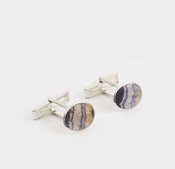 Blue John Medium Oval Gents Cufflinks