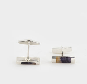 Blue John Rectangular Gents Cufflinks