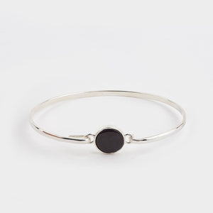 Whitby Jet Plain Round Bangle