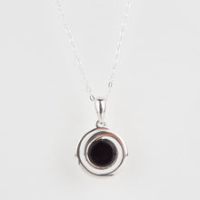 Load image into Gallery viewer, Whitby Jet Round Swirl Pendant