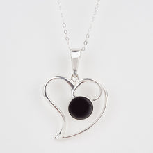 Load image into Gallery viewer, Whitby Jet Heart Pendant