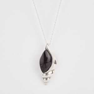 Whitby Jet Large Shell Pendant