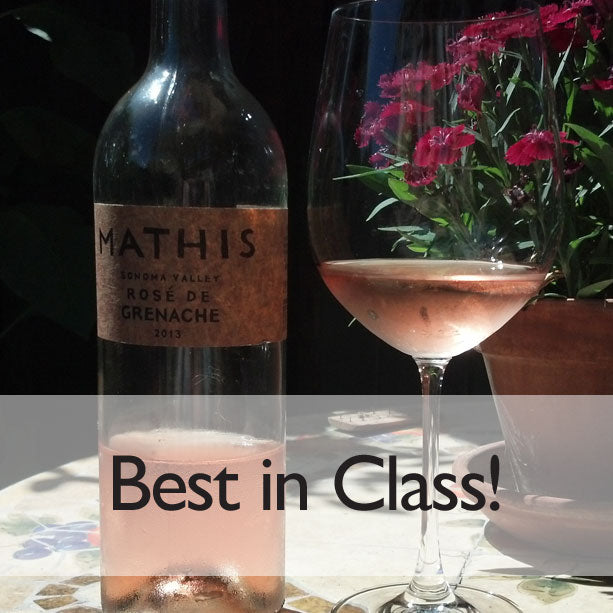 Mathis rose and glass, best in class SF chronicle wine competition