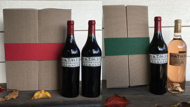 Image of gift boxes and wine bottles