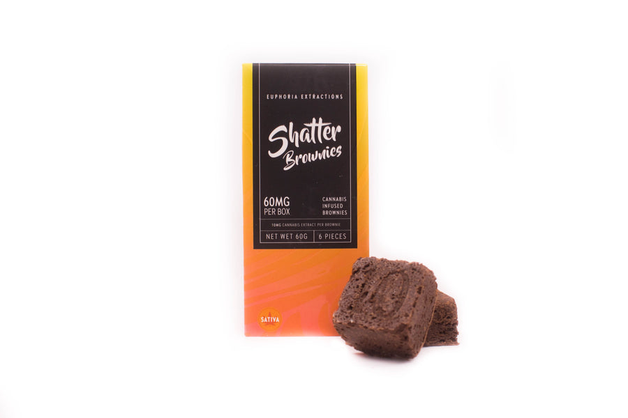 60mg Shatter Brownies - Sativa