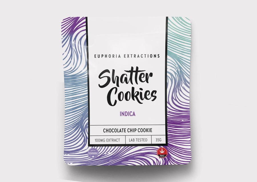 100mg Shatter Cookies - Indica
