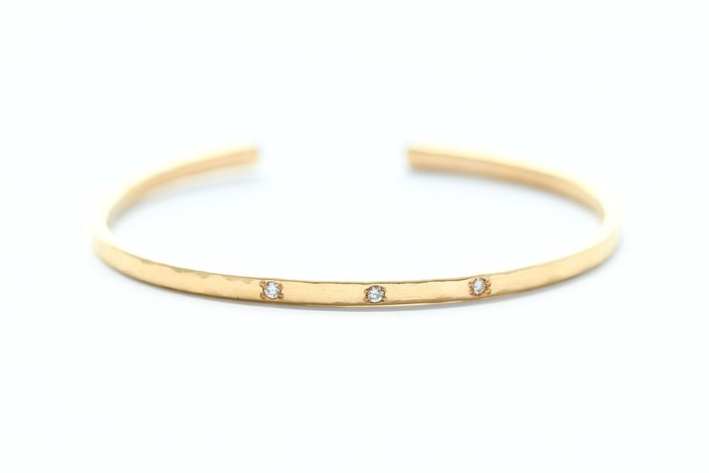 Rise and Shine bracelet - 14k gold and sparkly diamonds
