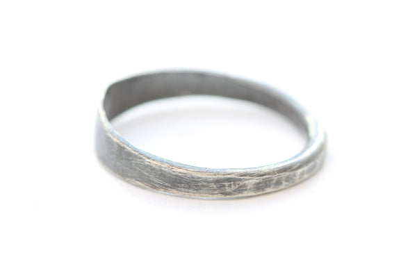 The Night - Hammered Oxidized Sterling Silver Ring
