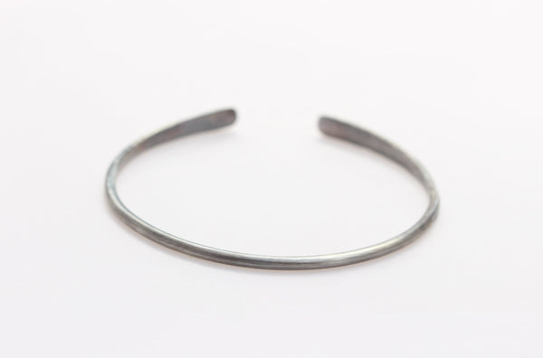 Oxidized Sterling Silver Bracelet with 14k Gold