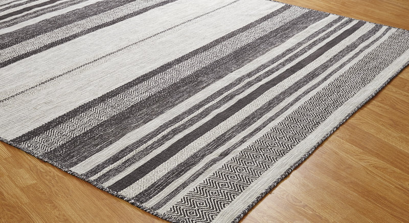 Tundra Canyon Graphite Hand-Knotted Area Rug - AllRugs
