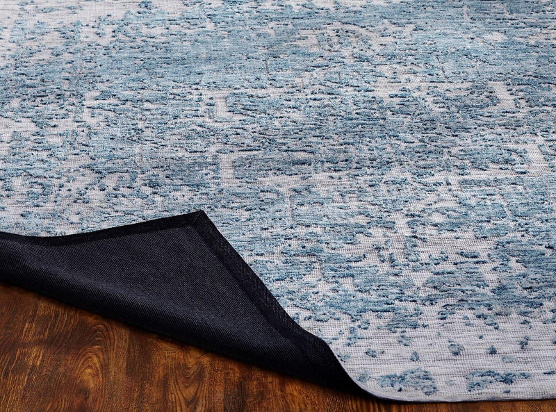 Soirée Blue/Grey Tufted Area Rug - AllRugs