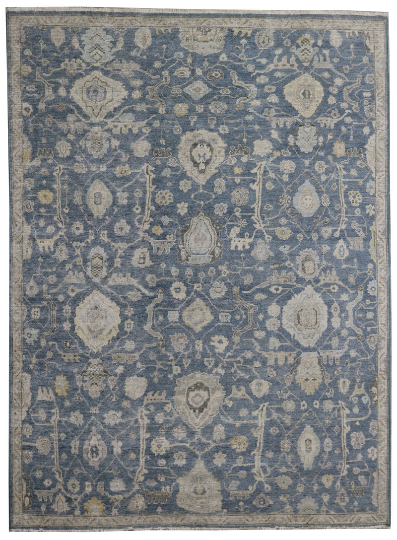 Rare One of a Kind Pearl Blue/Grey 8 x 10 Area Rug