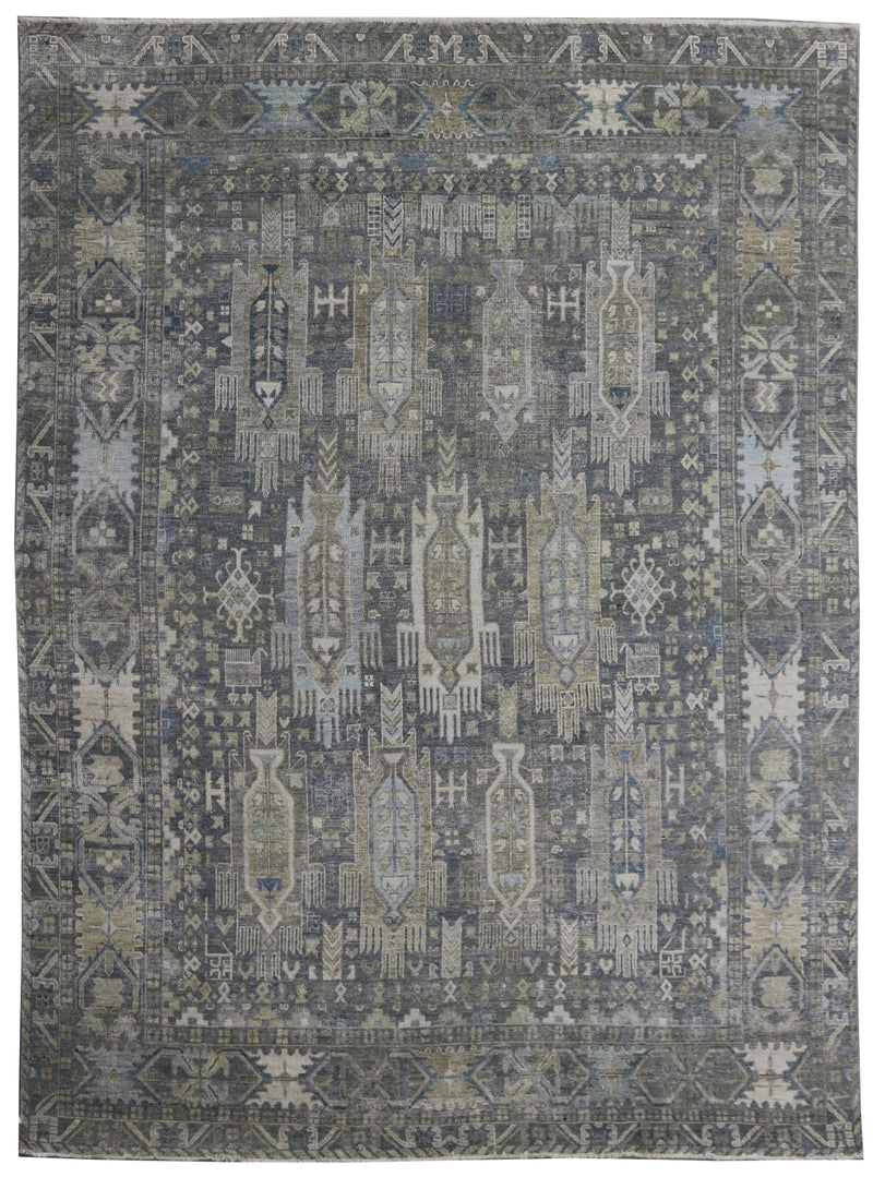 Rare One of a Kind Pearl Grey 8 x 10 Area Rug