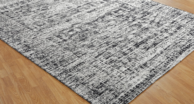 Stellara Hazy Charcoal Hand-Knotted Area Rug - AllRugs