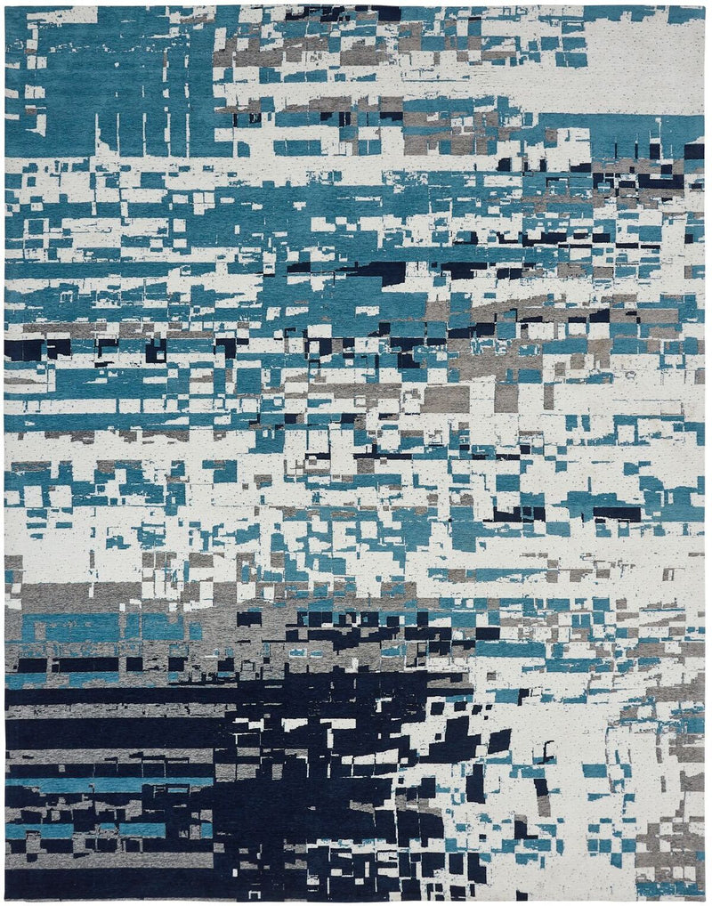 Stellara Canyon Blue Hand-Knotted Area Rug - AllRugs