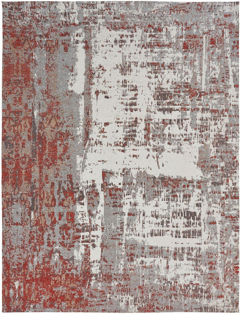 Stellara Rust/Grey Hand-Knotted Area Rug - AllRugs