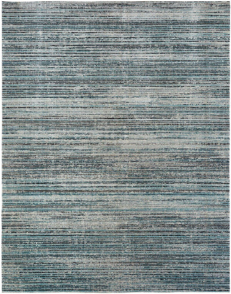 Vortex Aqua Strie Indoor/Outdoor Area Rug