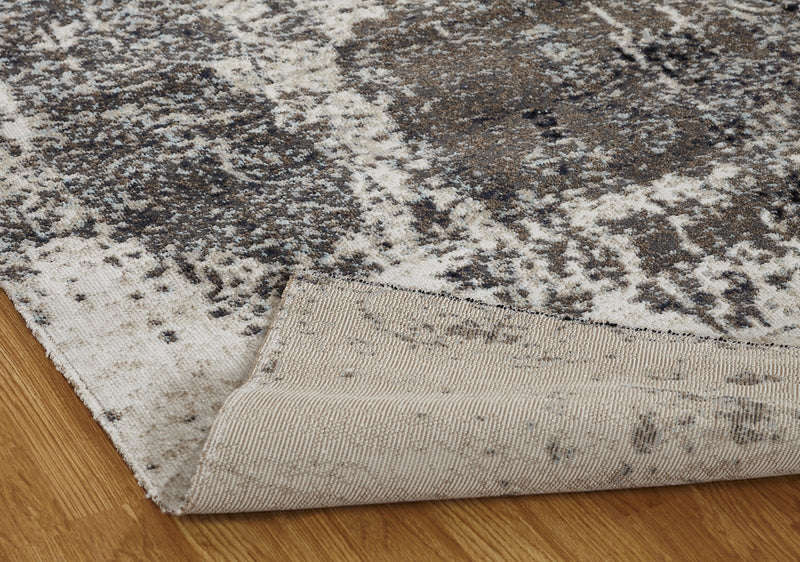 Vortex Granite Grey Indoor/Outdoor Hand-Knotted Area Rug - AllRugs