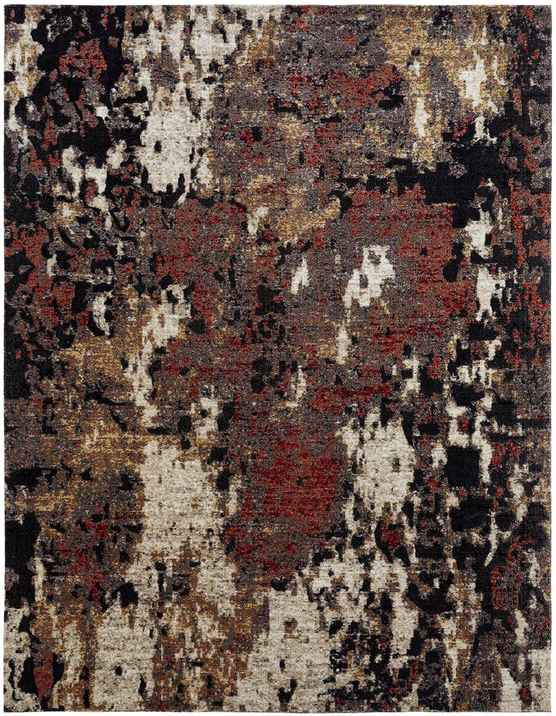 Vortex Ebony Multi Indoor/Outdoor Hand-Knotted Area Rug - AllRugs