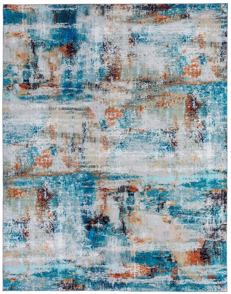 Chateau Blue Multi-Color Area Rug