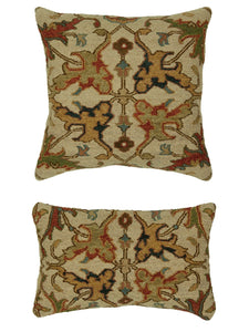 Pillow 612 Ivory / Red - AllRugs