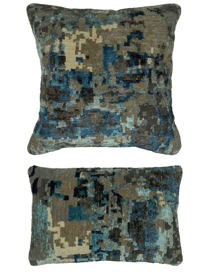 Pillow 475 Abstract Blue / Grey - AllRugs