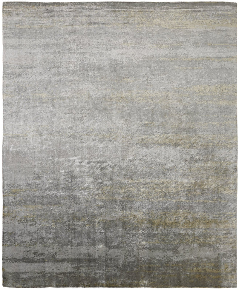 Nocturne Rust/Grey Hand-Knotted Area Rug - AllRugs