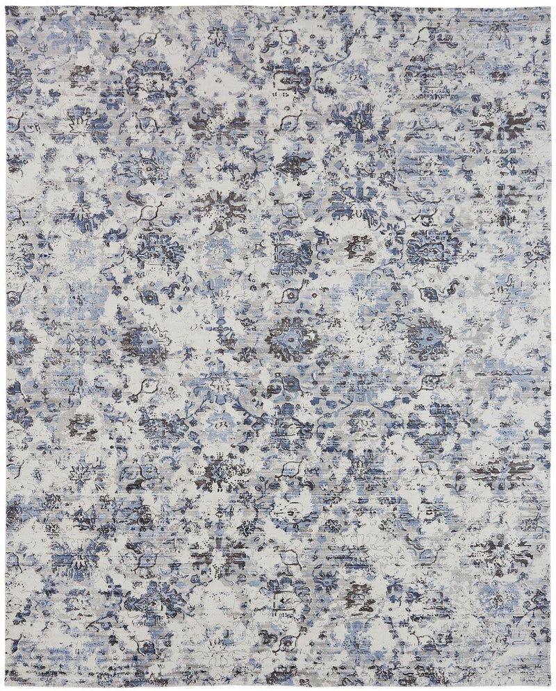 Nocturne Blue Tones Hand-Loomed Area Rug