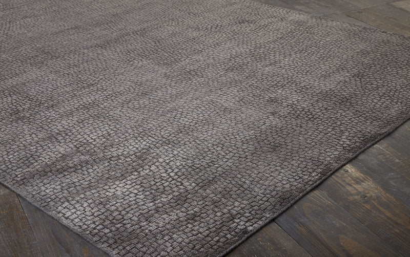 Mirage Charcoal Hand-Knotted Area Rug - AllRugs