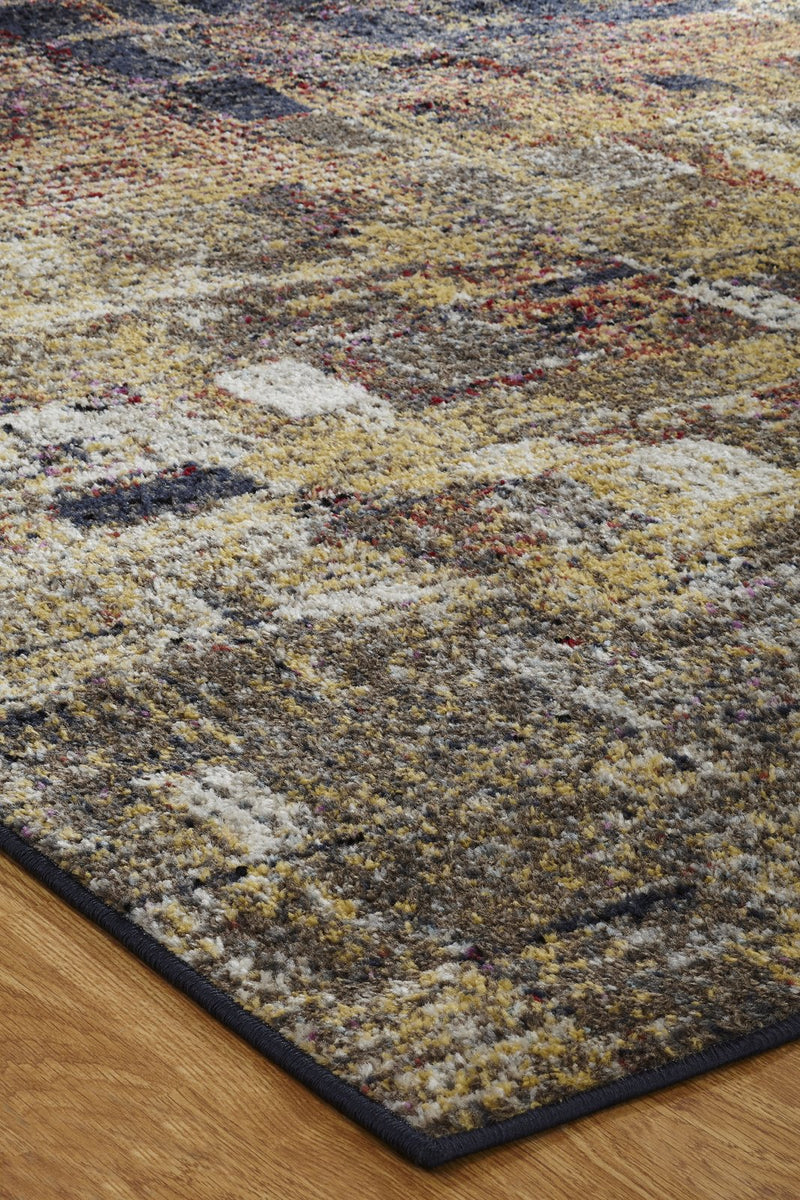 Nebula Autumn Tones Hand-Knotted Area Rug - AllRugs