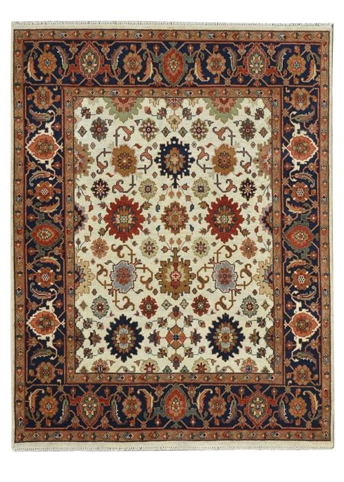 Moonrise Navy Beige Hand-Knotted Area Rug - AllRugs