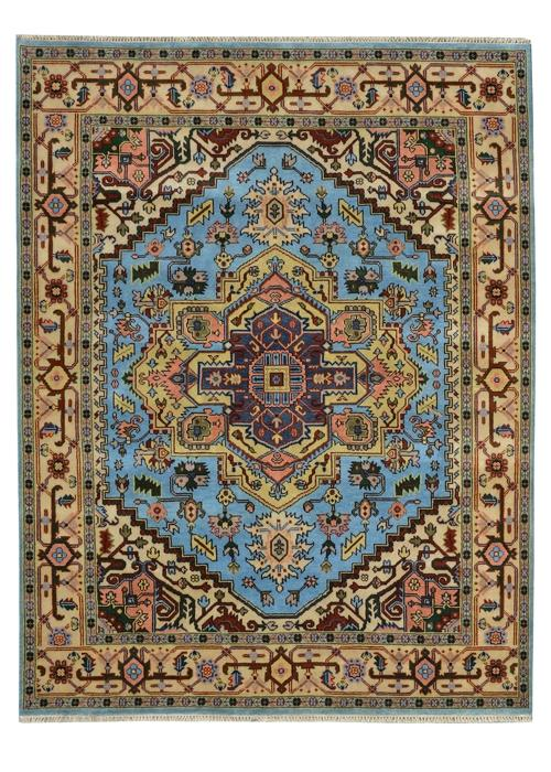Moonrise Baby Blue Hand-Knotted Area Rug - AllRugs