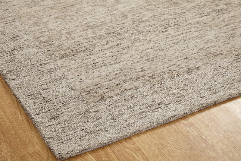 Terzo Warm Brown Hand-Tufted Area Rug