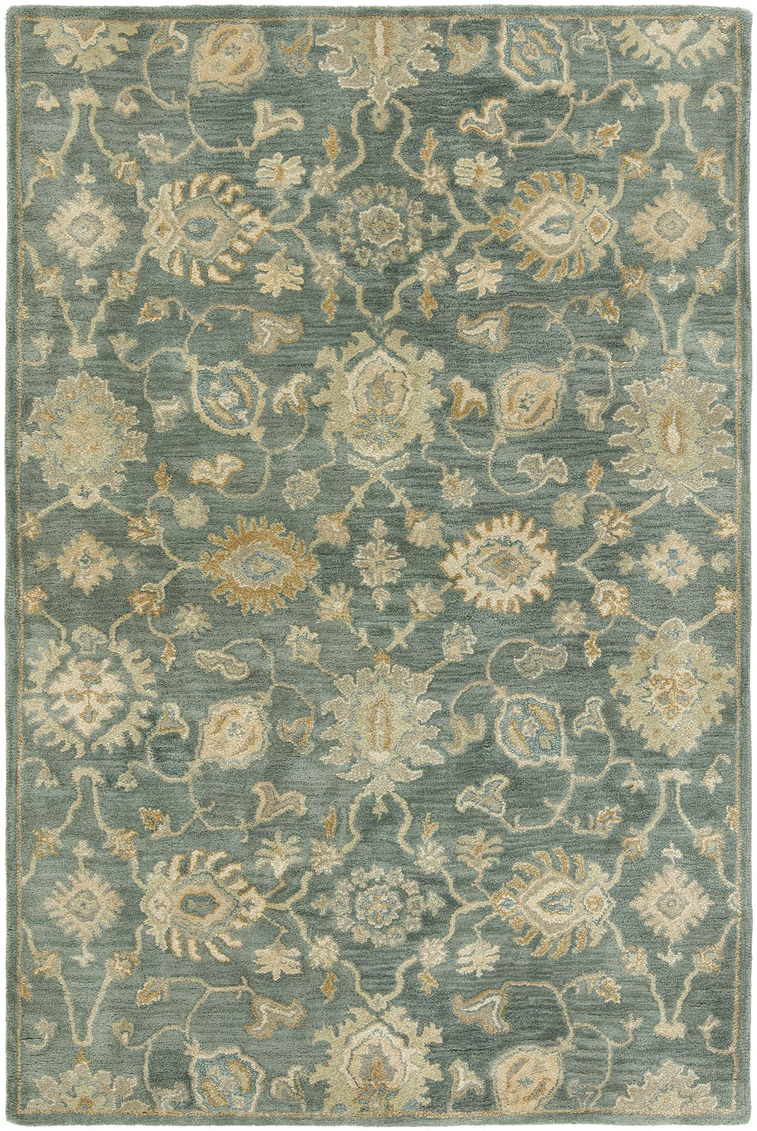 Libra Mineral Blue Hand-Knotted Area Rug - AllRugs